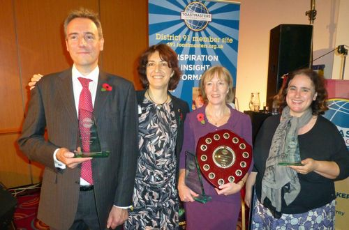 D91 Brighton Table Topics winners with Hilary