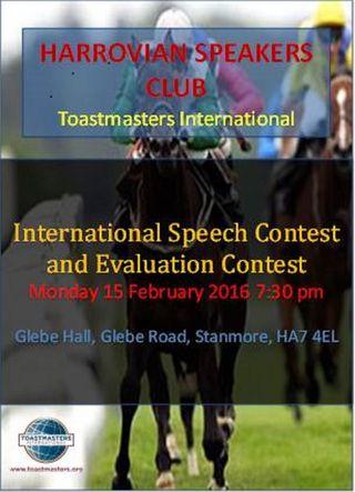 Harrovians Speakers Contests Feb 2016