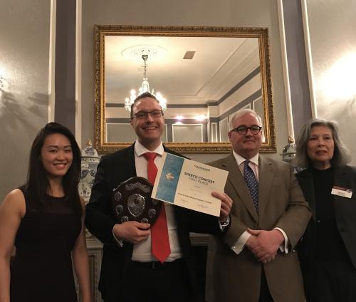 Area 6 Intl speech winner March 2017